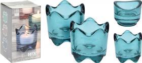 Ljuskopp i färgat glas 2-pack