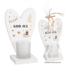Presentförpackad ljuslykta -GOD-JUL