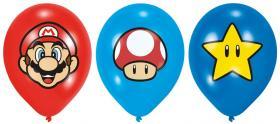 Ballonger i 6-pack -SUPER MARIO