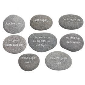 Sten med negativ text