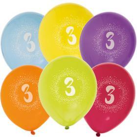 """Ballonger i 6-pack """"3"""""""
