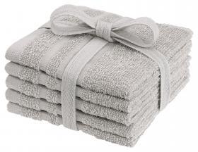 Tvättlappar i frotté 5-pack (Sand)