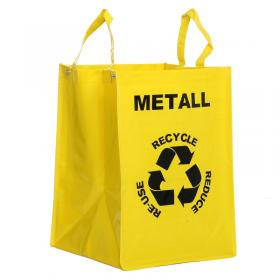 Recycle bag -Metall (gul)