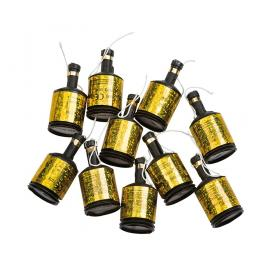 Partypoppers guld 8-pack
