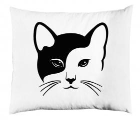 Örngott - Vit katt