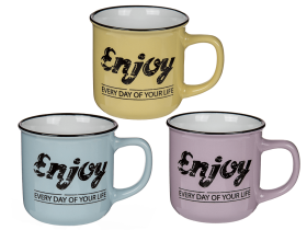 Porslinsmugg -Enjoy