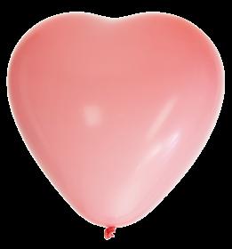 Hjärtformade ballonger 8-pack (Rosa)