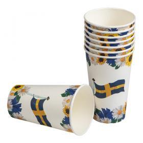 Stor pappersmugg i 8-pack -Sverige