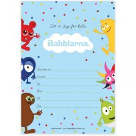 Inbjudningskort -Babblarna