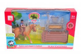 Lekset häst med tillbehör