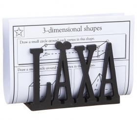 Förvaringsfack -LÄXA (svart)