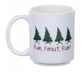 Porslinsmugg -Run, Forest, Run!