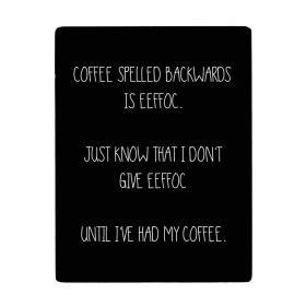 Trätavla -coffee/eeffoc