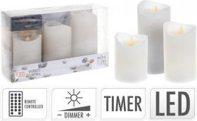 LED ljus i 3-pack timer/fjärrkontroll