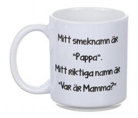 """Porslinsmugg -Smeknamn """"Pappa"""""""
