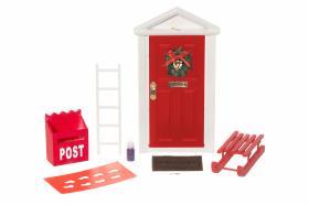 Tomteset 9-delar (Röd dörr)
