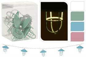 Ljusslinga med 10st LED lampor -lanternor