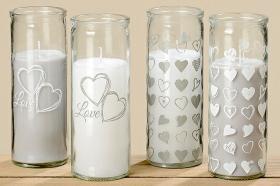 Ljus i glas med hjärtan