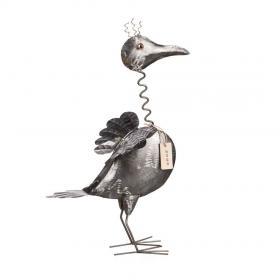 Fågel i hamrad plåt 50 cm
