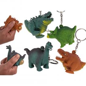 Nyckelring -Bajsande dinosaurie