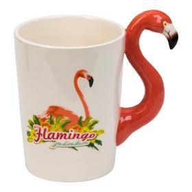 Porslinsmugg -Pink Flamingo