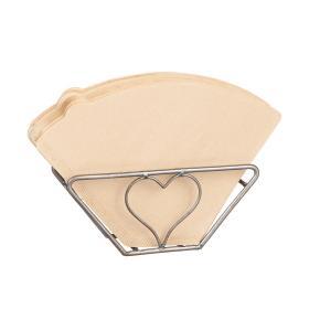 Kaffefilterhållare i råmetall med hjärta