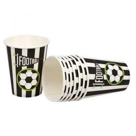 Pappersmugg i 8-pack -Fotboll
