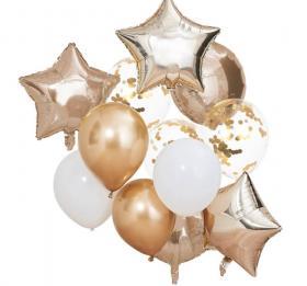 Set med ballonger i olika former 12-pack