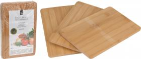 Skärbräda i bambu 3-pack