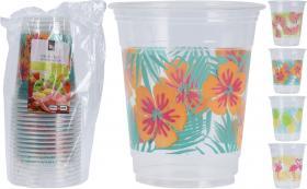 Plastmuggar -Sommar 20-pack