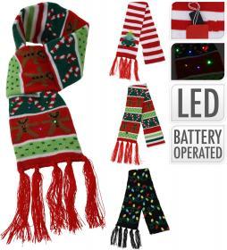 Julhalsduk med belysning
