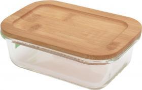 Förvaringslåda glas/bambu