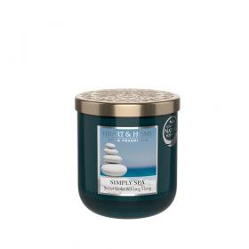 Doftljus Simply Spa (söt viol & Ylang Ylang) 115 g