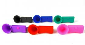 Horn-Stand silikonhögtalare till din mobil