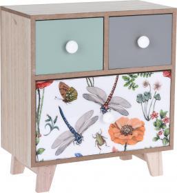 Minibyrå med 3 lådor