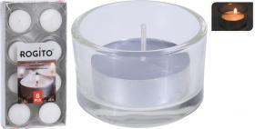 Värmeljus i glaskopp 8-pack