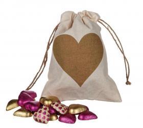 Säck med chokladhjärtan (Hjärta)