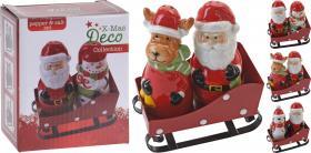 Salt & peppar -Julfigurer på släde