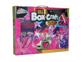 Stor låda med pyssel (rosa)