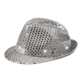 Blinkande partyhatt (Silver)