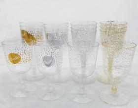 Champagneglas i plast 4-pack