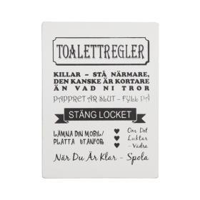 Trätavla -toalettregler