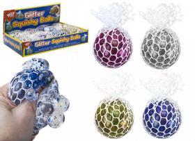 Glittrig klämboll i nät