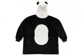 Pläd med huva och ärmar -Panda