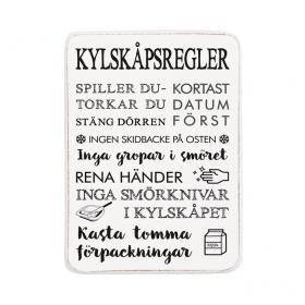 Magnet -Kylskåpsregler