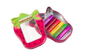 Plåtask med Lip Smacker 6-pack
