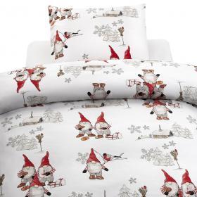 Bäddset -Frosty Christmas (röd)