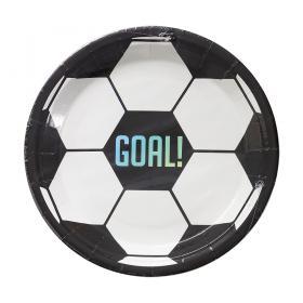 Papperstallrik 23cm -Fotboll