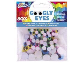 Rörliga ögon i olika färger 80-pack