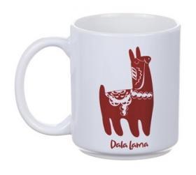 Porslinsmugg -Dala Lama